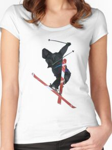 Free Ride jumper Women's Fitted Scoop T-Shirt