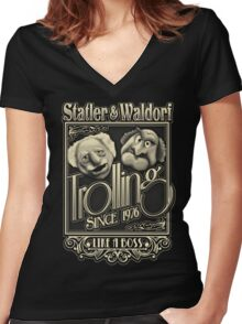 Grandfathers of Troll Women's Fitted V-Neck T-Shirt
