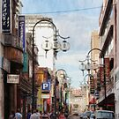 China Town in oils.... by Lynda Heins