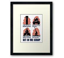 Get In The Scrap -- WWII Propaganda Framed Print