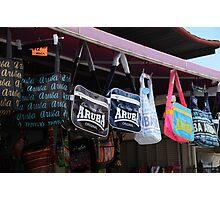 Bagging a bargain in Aruba Photographic Print