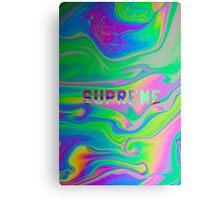 SUPREME GOOP WARP TRIP GREEN PURPLE WATER LSD ACID oil spill Canvas Print