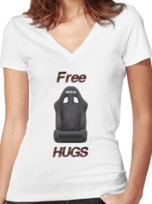 racing seat Women's Fitted V-Neck T-Shirt