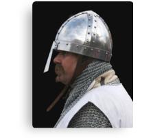 Medieval Knight Portrait Canvas Print
