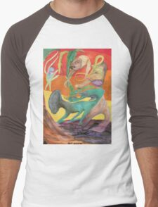 Spiritual Portrait - Jamie B. Men's Baseball ¾ T-Shirt