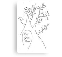 Love Grows Love Canvas Print
