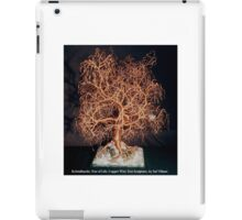 Kristallnacht, Tree of Life, wire tree sculpture iPad Case/Skin