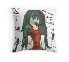 Dreams of Darkness Seep from Within Throw Pillow