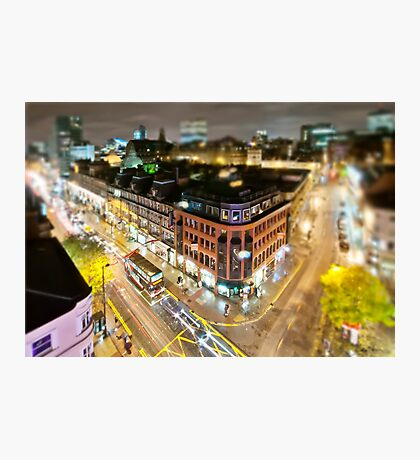 Bright lights of Manchester, tilt and shift. Photographic Print