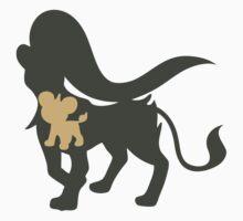 PKMN Silhouette - Litleo Family (Female) Kids Tee