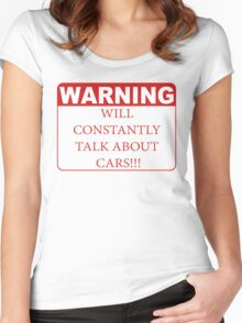 warning cars Women's Fitted Scoop T-Shirt