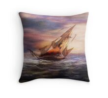 Lonely Journey Throw Pillow
