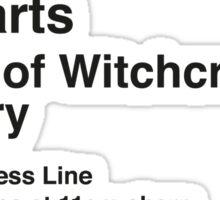 Express to Hogwarts - Black Text Version Sticker