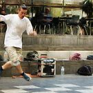 Dancing in the streets of Melbourne by Lynda Heins