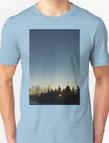 Cloudless winter Sunset T-Shirt