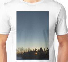 Cloudless winter Sunset Unisex T-Shirt