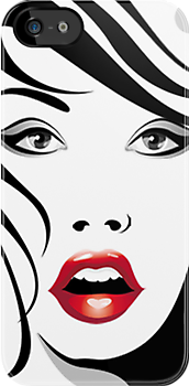 A Fashion/Vogue Girl with Red lip by scottorz
