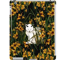 Bianca among yellow flowers iPad Case/Skin