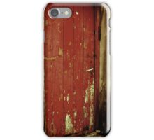 Unique Vintage Red Door Texture Style iPhone Case/Skin