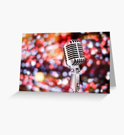 retro microphone Greeting Card