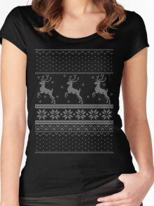 Christmas Knit Version 3 Women's Fitted Scoop T-Shirt
