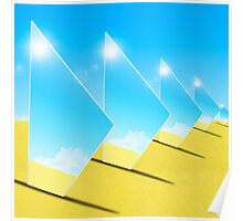 triangle mirrors Poster