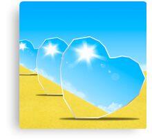 heart mirrors Canvas Print