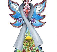 BRAIN CANCER ANGEL - HOPE LOVE FAITH by Lisa Frances Judd~QuirkyHappyArt