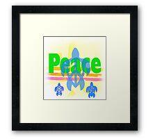 Peace Turtle Framed Print