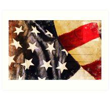 America flag postcard Art Print