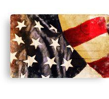 America flag postcard Canvas Print