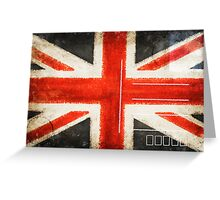 England flag postcard Greeting Card