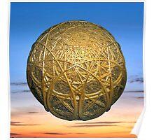 Fractal globe Poster