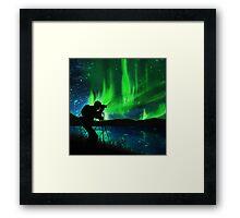 shooting aurora Framed Print