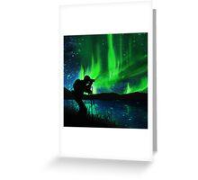 shooting aurora Greeting Card