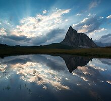 Mountain peak reflection by Matteo Colombo