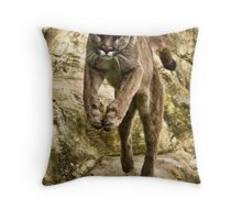 Leaping Puma Throw Pillow