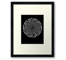 The Anatomy of a Human Being - White Framed Print