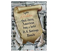1946 Resolution - That every American buy and hold U.S. savings bonds Photographic Print