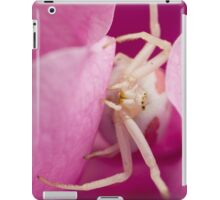 White Spider in Pink Flower iPad Case/Skin