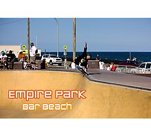 Layback Rollout - Empire Park Skate Park Photographic Print