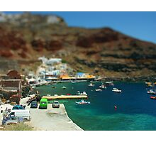 Santorini Harbour Photographic Print