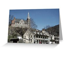 Small Church in Harpers Ferry, West Virginia Greeting Card