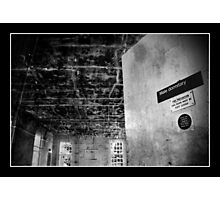 Deadly Dorm Room Photographic Print