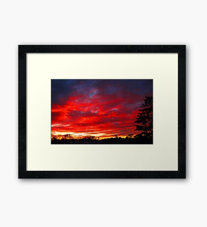 Last Evening Framed Print