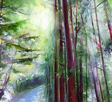 Redwoods & Sunshine by Genevieve  Cseh