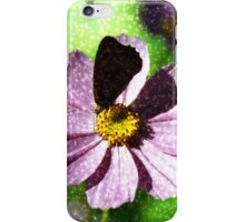 Flower with butterfly iPhone Case/Skin