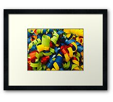 Colorful Curly Ribbons Framed Print