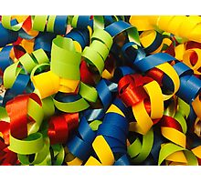 Colorful Curly Ribbons Photographic Print