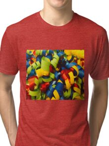 Colorful Curly Ribbons Tri-blend T-Shirt